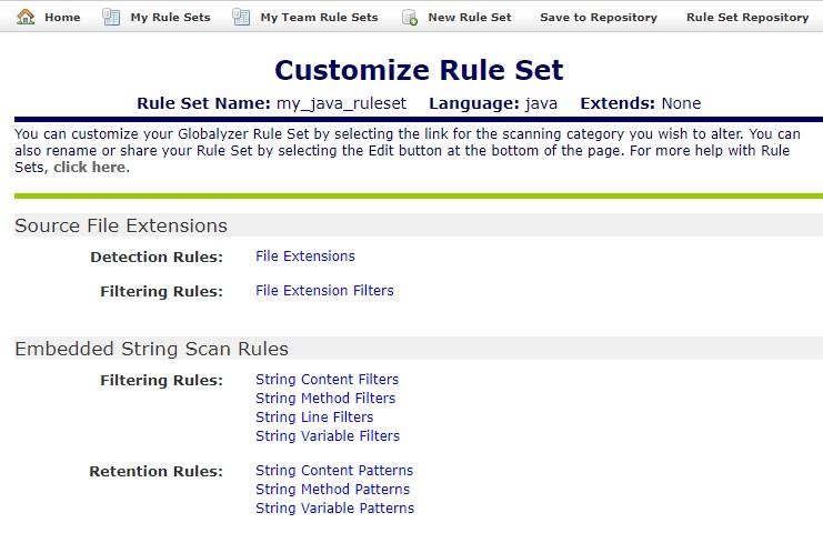 Creating a Rule Set